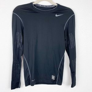 Nike Pro Combat Compression Black Long Sleeve S